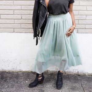 NWT h&m mint maxi skirt